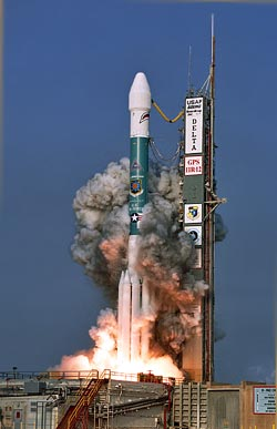 Source: Boeing Delta II rocket photo supplied by USAF